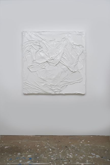 Untitled (White on White #8) by Huseyin Sami contemporary artwork