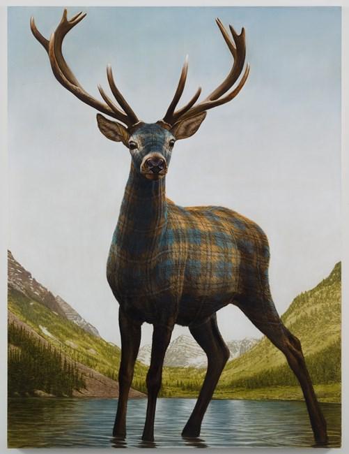 Maroon Bells (Deer) by Sean Landers contemporary artwork