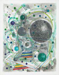 Le Relais Du Postillon Playground Green by Robert Reed contemporary artwork mixed media