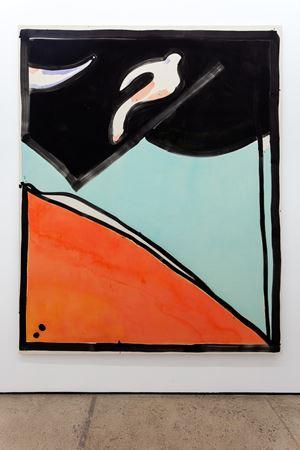 Bird Flying Through a Tunnel by Matt Connors contemporary artwork
