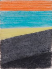 Sail Loft and Orange Sky by Milton Avery contemporary artwork works on paper