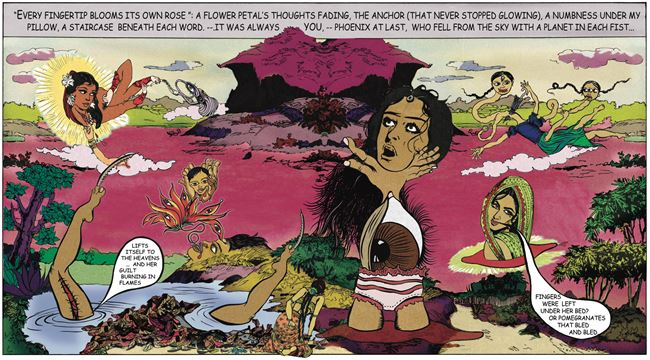 Fingerprints by Chitra Ganesh contemporary artwork
