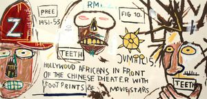 Hollywood Africans by Jean-Michel Basquiat contemporary artwork