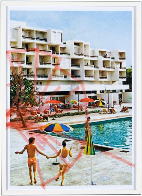 Nine Swimming Pools Behind Broken Glass #5 by Tanja Lažetić contemporary artwork