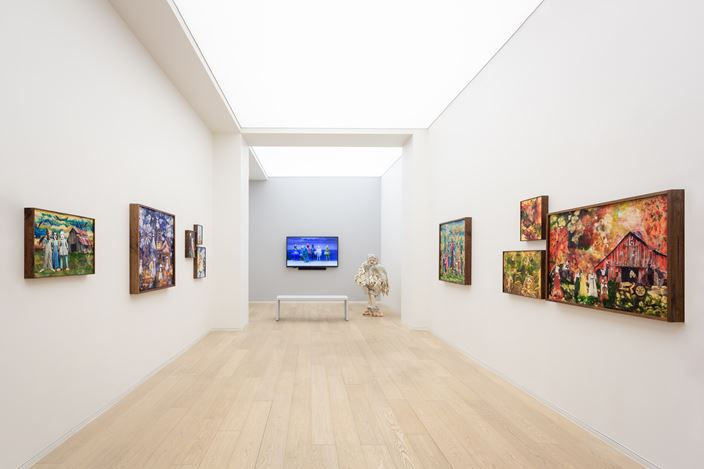Exhibition view: Marnie Weber, The Sea Witch and Other Stories, Simon Lee Gallery, Hong Kong (11 September–31 October 2020). Courtesy the artist and Simon Lee Gallery.