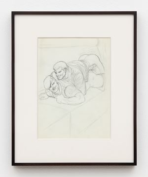 """Untitled (Preparatory Drawing for Kake Vol. 16 - """"Sex on the Train"""") by Tom of Finland contemporary artwork"""