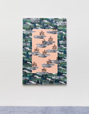 Misty Mountain (Peach Centre) by Neil Raitt contemporary artwork