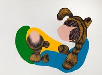 Voyages of discovery (The wounded heart) by Patricia Piccinini contemporary artwork works on paper