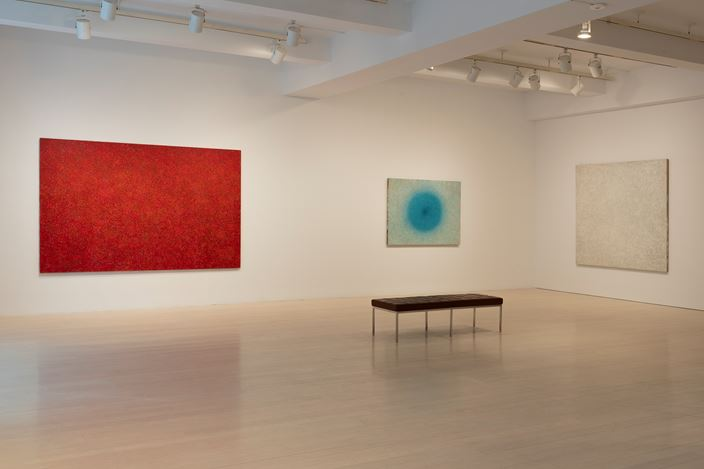 Exhibition view: Richard Pousette-Dart, Works 1940–1992, Pace Gallery, 32 East 57th Street, New York (10 May–28 June 2019). Courtesy Pace Gallery.
