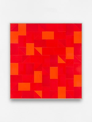 Zweites Kleinrot by Gregor Hildebrandt contemporary artwork