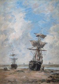 Voiliers, marée basse by Eugène Boudin contemporary artwork painting