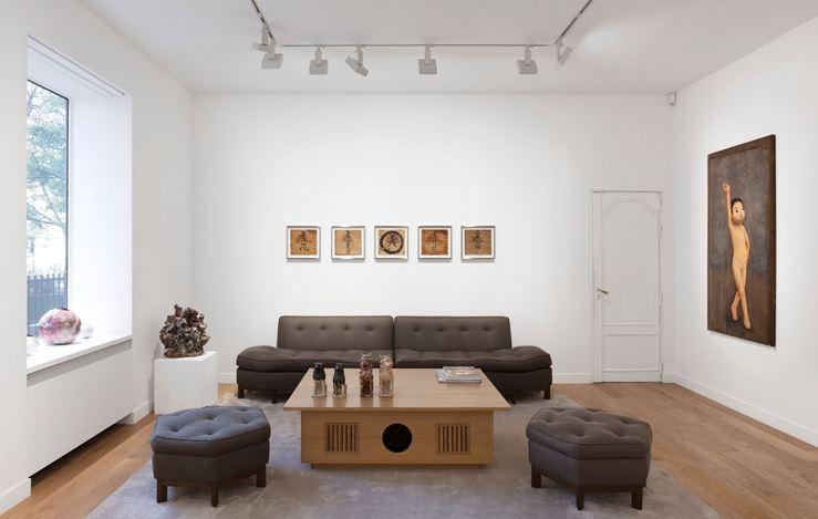 Exhibition view: Group Exhibition, Healing, Perrotin, Paris (17 October–3 December 2020). Courtesy the artists, Kaikai Kiki and Perrotin.