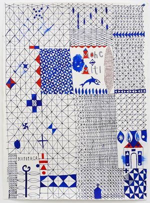 Sleep/Dream (Mohe - Miti) by John Pule contemporary artwork painting, works on paper, drawing