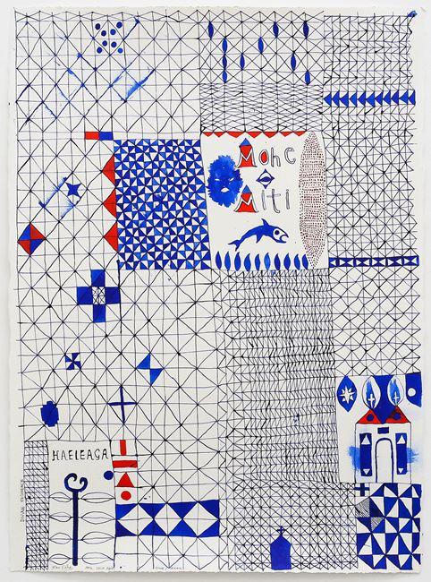 Sleep/Dream (Mohe - Miti) by John Pule contemporary artwork