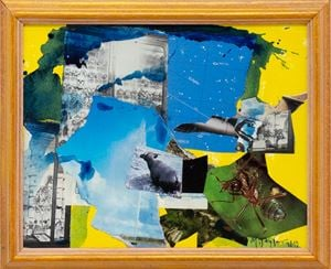 Blue Collage by Michael Taylor contemporary artwork