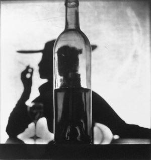 Girl Behind Bottle, New York by Irving Penn contemporary artwork