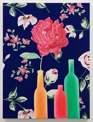 Flower in Bottle by Alec Egan contemporary artwork painting