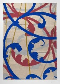 Pattern XII—The Window—Woven Textile 1 纹样XII—窗—织物1 by Bi Rongrong contemporary artwork textile