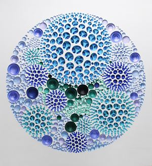 Vestige (circular space-green) by Kim Jaeil contemporary artwork