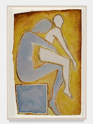 Notturno Indiano II by Francesco Clemente contemporary artwork