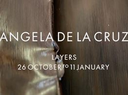 Angela de la Cruz spoke to Louisa Elderton about her exhibition at Galerie Thomas Schulte, August 2019