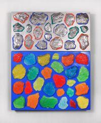 Wall-Wall No. 17 (Ultramarine/Silver) by Ashley Bickerton contemporary artwork mixed media