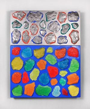 Wall-Wall No. 17 (Ultramarine/Silver) by Ashley Bickerton contemporary artwork