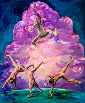 Pink Cloud by Fu-sheng Ku contemporary artwork