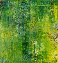 Berührte (Grün) by Charlotte Acklin contemporary artwork painting