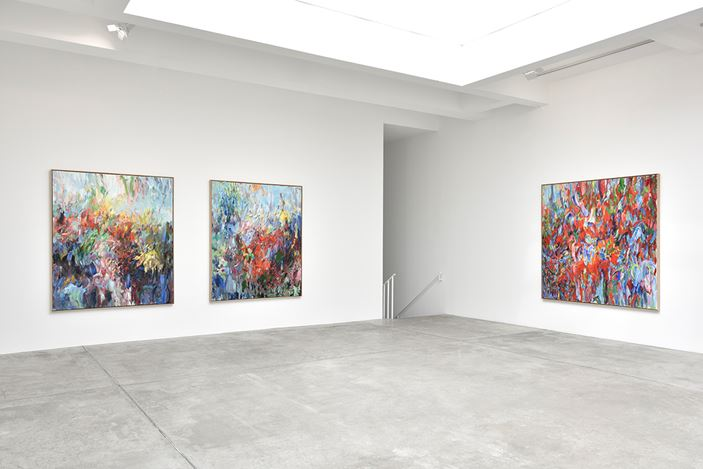 Exhibition view: Sabine Moritz, deeply unaware, Galerie Marian Goodman, Paris (11 September–26 October 2019). Courtesy Galerie Marian Goodman.