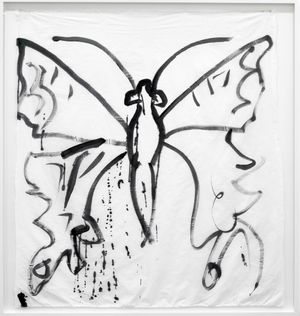 Como Butterfly II by Joan Jonas contemporary artwork painting