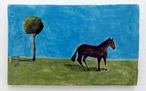 Horse, Blue sky  by Noel McKenna contemporary artwork