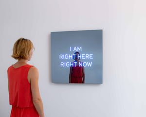I AM RIGHT HERE RIGHT NOW by Jeppe Hein contemporary artwork