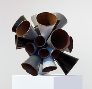 Grayscale Pipe Burst by James Angus contemporary artwork