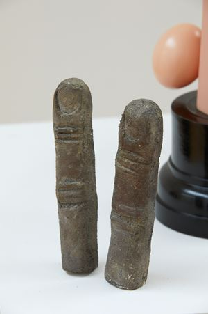 Bronze fingers by Sean Kerr contemporary artwork