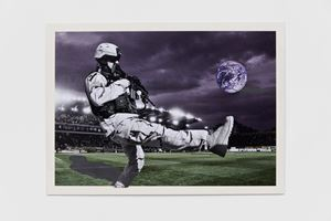 American Football by Peter Kennard contemporary artwork
