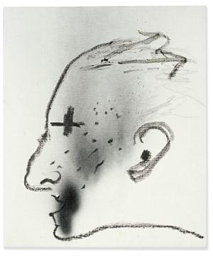 Perfil negre by Antoni Tàpies contemporary artwork