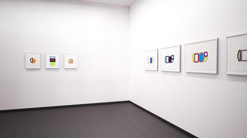 Exhibition view: Beverly Fishman, Studies on Relief, online exhibition, Kavi Gupta (15 July–12 September 2020). Courtesy Kavi Gupta.