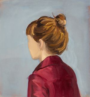 Red Jacket by Gideon Rubin contemporary artwork painting