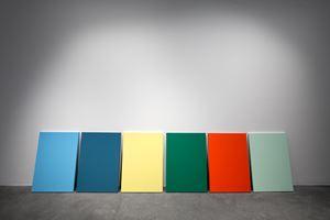 Apartheid Monochromes by Yazan Khalili contemporary artwork