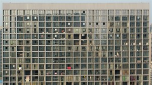 The Front View of an Apartment Building by Zhang Peili contemporary artwork