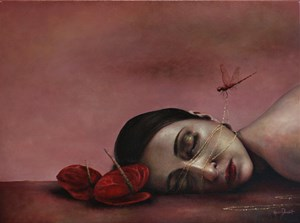 Red Dragonfly by Rozi Demant contemporary artwork