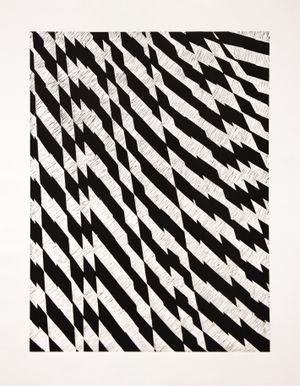 Blackfriars Block Black - Portrait by Richard Deacon contemporary artwork print