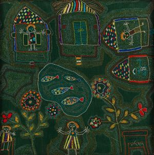 Untitled (Kantha) by Meera Mukherjee contemporary artwork