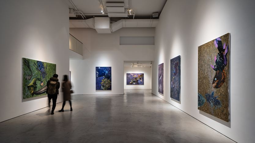 Exhibition view: Yang Mao-Lin, Wanderers of the Abyssal Darkness II: Somber Seas, Tina Keng Gallery, Taipei (23 February–7 April 2019). Courtesy Tina Keng Gallery.