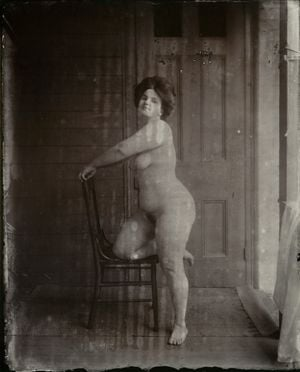 Untitled (Storyville Portrait) by E.J. Bellocq contemporary artwork