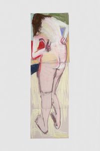 Self Portrait from Behind with Arms Bent Back II by Chantal Joffe contemporary artwork works on paper, drawing