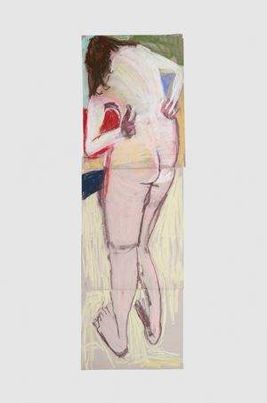 Self Portrait from Behind with Arms Bent Back II by Chantal Joffe contemporary artwork