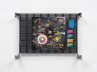 Crypto Futures Game of Life Overprint Collage: Electronic Banking Dystopia by Simon Denny contemporary artwork print
