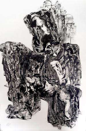 Mourning V, Paris by Kevork Mourad contemporary artwork painting